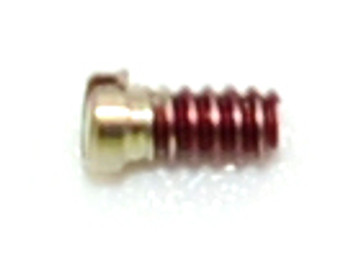 """This 0-64 Coated threaded screw is often used on traditional B & L frames.  This thread size 0-64 thread is used primarily in Optical eyewear and Jewelry.  The thread diameter is 1.32mm, Head diameter  0.071"""" / 1.8mm and Overall length is a plus 1/8"""" / 3.4mm,  finish color is Silver, material nickel silver sold in 100 count vials"""
