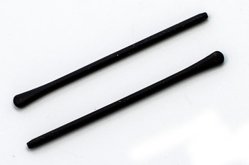 "Temple Tip, Soft Silicone Black Length 65mm (2-5/8"") 1.2mm Core inside diameter, Please note that 1.2mm is small, sold in 2  pair per bag"