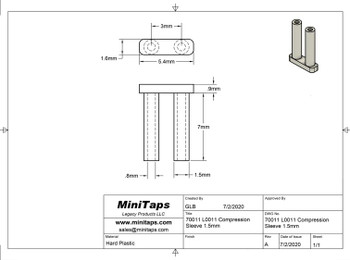 Mounting Sleeve (Pair/Standard)   L0011; 1.5mm Prong - Asian  100 pieces per bag