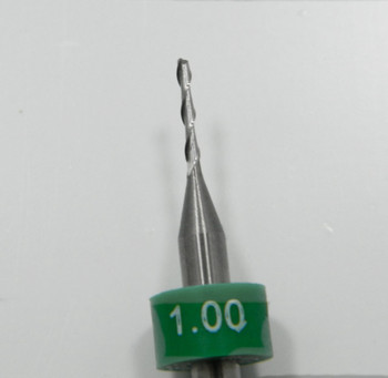 "Edger milling cutter: Cutter diameter 1.00mm, length of cut 6.50mm, shank 1/8"" 3.16mm, overall length 38mm (1.50"")"