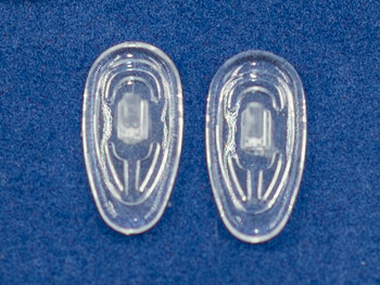 """Premium grade soft silicone """"Screw-On"""" mount nose pads 19mm """"Tear Drop"""" Shape. Please note the mold size is 19mm the finished actual length of this  nose pad measures 18.5mm±.  Packaged in 25 pair bags     Mix-N-Match Nose pads pricing on 25 pair bags  $7.25 per bag on 4 to 15 bags, $6.19 on 16 -39 bags and $5.50 on 40+ that equals   $100 pairs for $29 or 400 pair at $99  Final price determined by """"Shopping Cart Total"""" of """"Premium Nose Pads"""""""