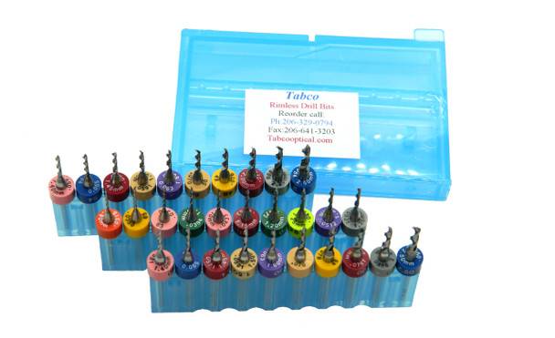 "Mix-N-Match Rimless Drill Bits    Any Sizes .50mm to 2.50mm Pick the Drill bits and quantities your discount is determined by ""Shopping Cart Total"" 10 Pieces to 24 Net Discounted Price $4.95 each 25 Pieces to 49 Net Discounted Price $4.45 each 50 & more Net Discounted Price $4.25 each Discounts shown in ""You're Shopping Cart"""