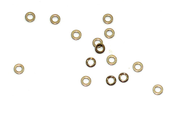 A432 Washer; inside diameter 1.20mm, $4.95 per 100 Finish color Gold, please note the picture is representative of the washer