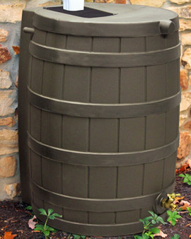 40 Gallon Flat Back - Good Ideas Rain Barrel - OAK