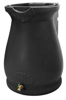 Rain Wizard Tuscan Urn Rain Barrel - 65 GAL - BLACK