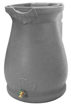 Rain Wizard Tuscan Urn Rain Barrel - 65 GAL -  PALE GRAY