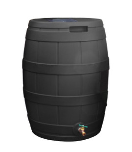 Rain Vault Rain Barrel Flat Back - 50 GAL - BLACK