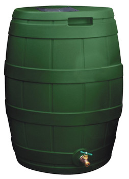 Rain Vault Rain Barrel Flat Back - 50 GAL - GREEN