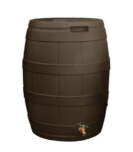 Rain Vault Rain Barrel Flat Back - 50 GAL - OAK