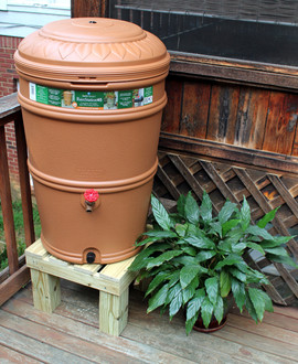 45 Gallon Rain Station Barrel & Stand - Earthminded BUNDLE