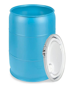 55 Gallon FDA approved storage bin for food and paper goods. Water and Rodent Proof. Airtight-perfect for storage in the basement or garage.