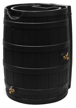 Rain Wizard Flat Back Rain Barrel - 65 GAL - Black
