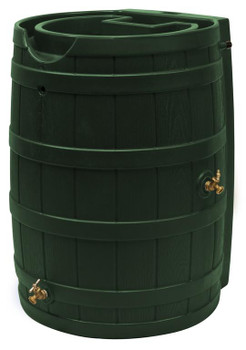 Rain Wizard Flat Back Rain Barrel - 65 GAL - Green
