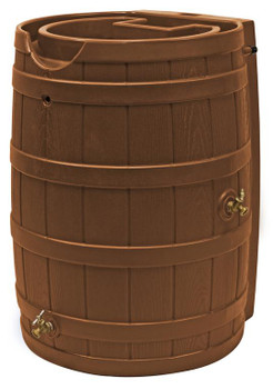 Rain Wizard Flat Back Rain Barrel - 65 GAL - Terra Cotta