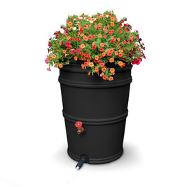 Earthminded 45 Gallon Rain Station Barrel - Charcoal