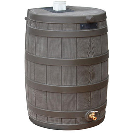 50 Gallon Rain Wizard Flat Back Barrel