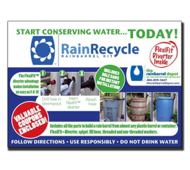 RainRecycle Do-It-Yourself Rain Barrel Kit