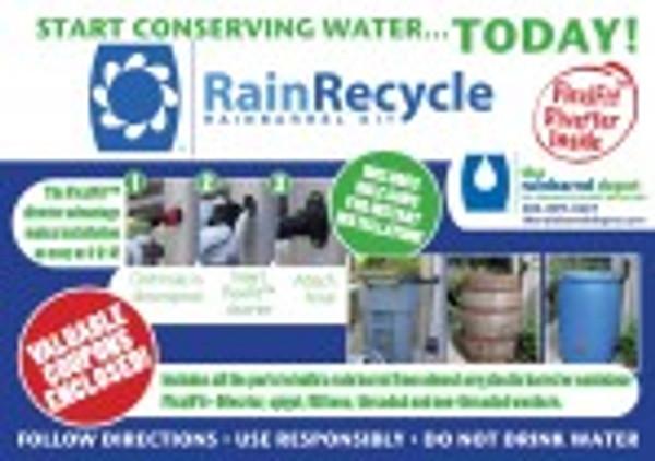 RainRecycle Rain Barrel Kit-10 Kit Value Pack