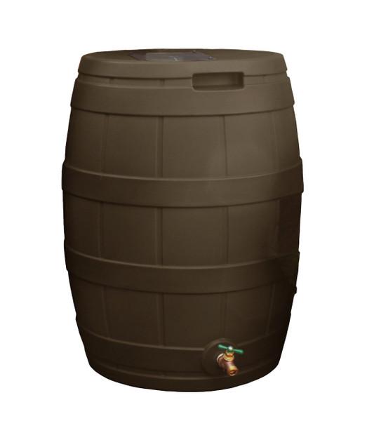 Rain Vault Rain Barrel Flat Back - 50 GAL - OAK