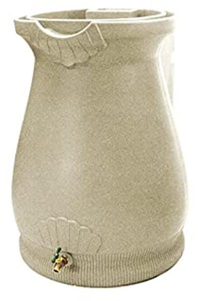 Rain Wizard Urn Rain Barrel - 50 GAL - Sandstone