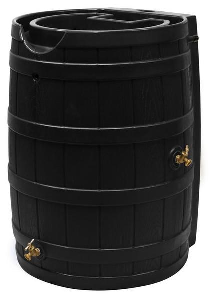 Rain Wizard Flat Back Rain Barrel - 65 GAL - Black