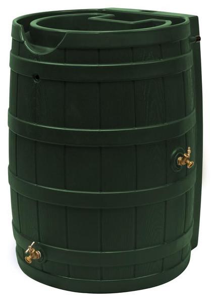 Rain Wizard Flat Back Rain Barrel - 65 GAL - Green