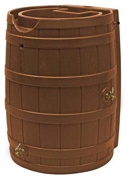Rain Wizard Flat Back Rain Barrel - 65 GAL - Terra Cotta