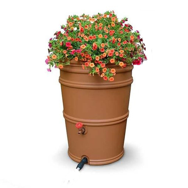 Earthminded 45 Gallon Rain Station Barrel - Terra Cotta