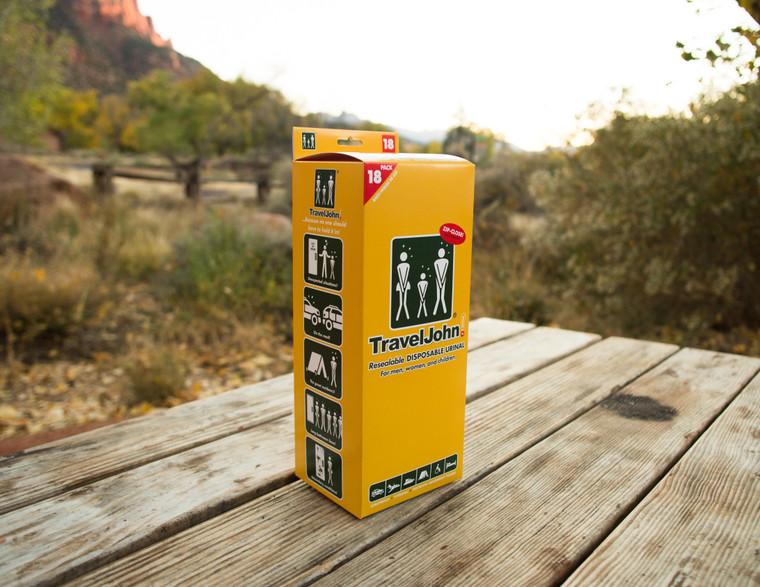 Model: TJ1N  Single Bag Resealable Disposable Urinal  Holds 28 fluid oz. Reusable Until Full!