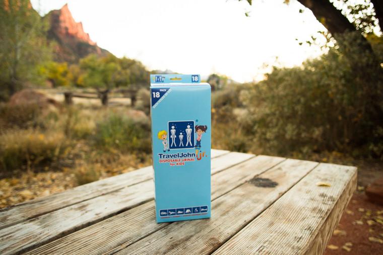 Model: TJ1H TravelJohn Jr. Disposable Urinal for Kids Holds 20 fluid oz. Reusable Until Full!