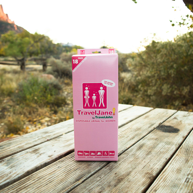 TravelJane Disposable Urinal (TJ1R) - 18 Pack