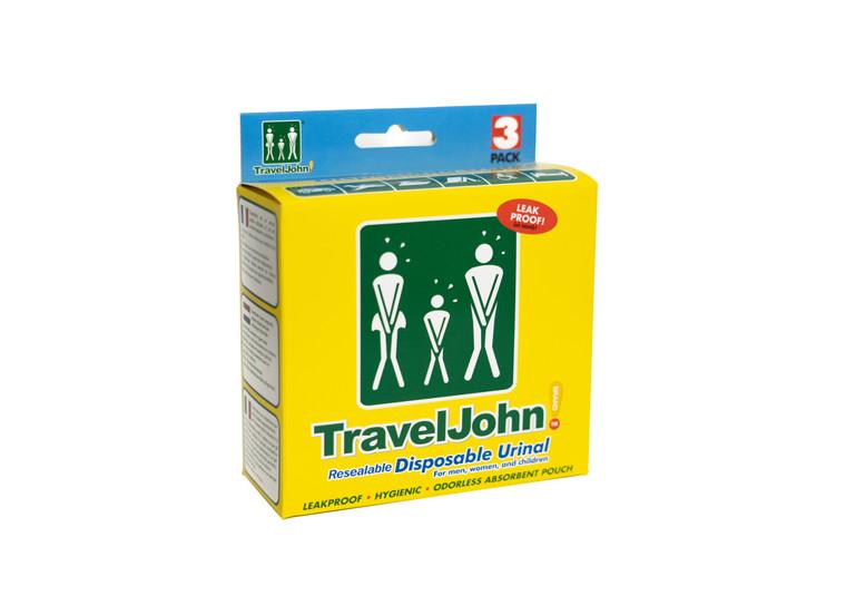 TravelJohn Resealable Disposable Urinal (TJ1N) - 3 Pack