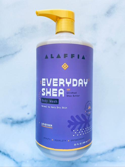 Alaffia Everyday Shea Body Wash - Lavender - 32oz