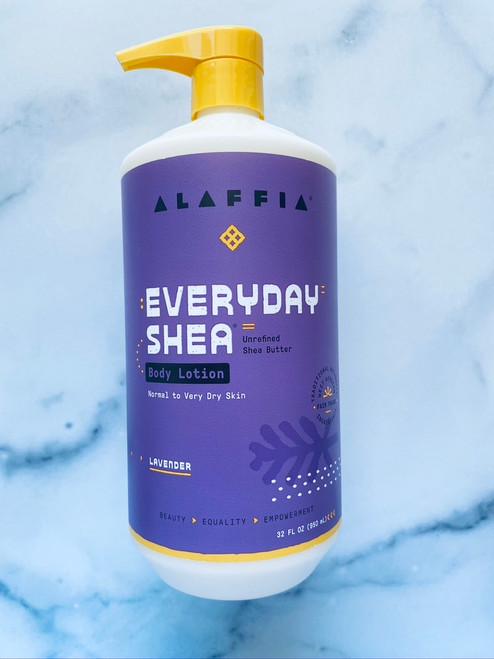 Alaffia Everyday Shea Body Lotion - Lavender - 32oz