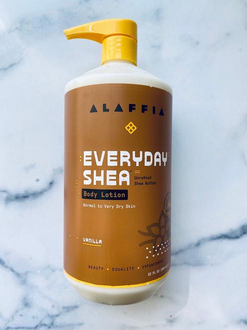 Alaffia Everyday Shea Body Lotion - Vanilla - 32oz