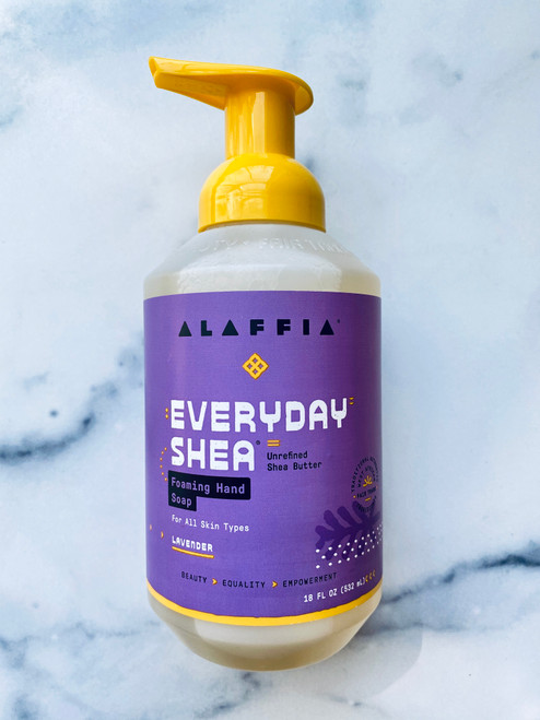 Alaffia Everyday Shea Foaming Hand Soap – Lavender - 18oz