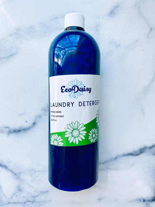 Ecodaisy Laundry Detergent. Contains no parabens, optical brighteners, dyes, or petrochemicals