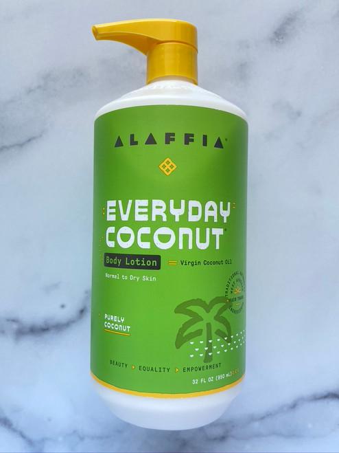Alaffia Everyday Coconut Body Lotion - Purely Coconut - 32oz