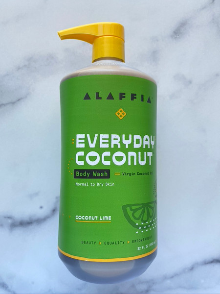 Alaffia Everyday Coconut Body Wash - Coconut Lime - 32oz