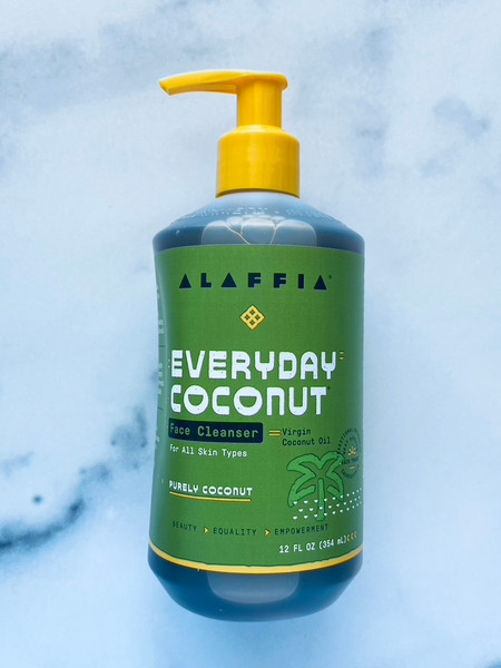 Alaffia Everyday Coconut Face Cleanser - Purely Coconut - 12oz