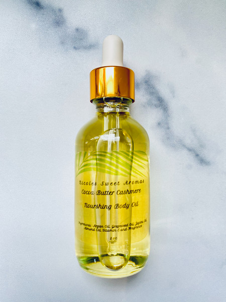 Nicoles Sweet Aromas Nourishing Body Oil - Cocoa Butter Cashmere - 2oz