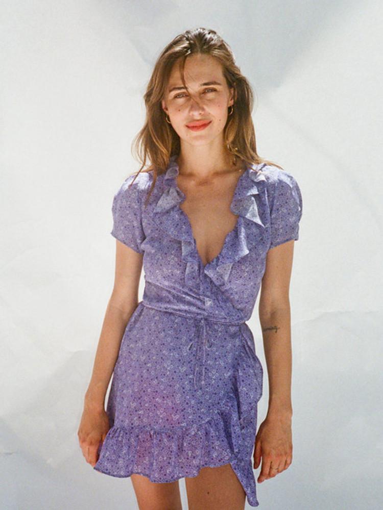005553fe2658 The Valentina - Purple Haze | Wrap Dress