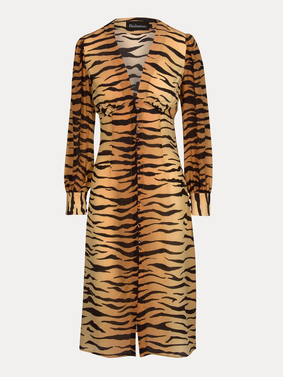 3a39753ce2ef The Vivienne - Tiger   Silk Midi Dress