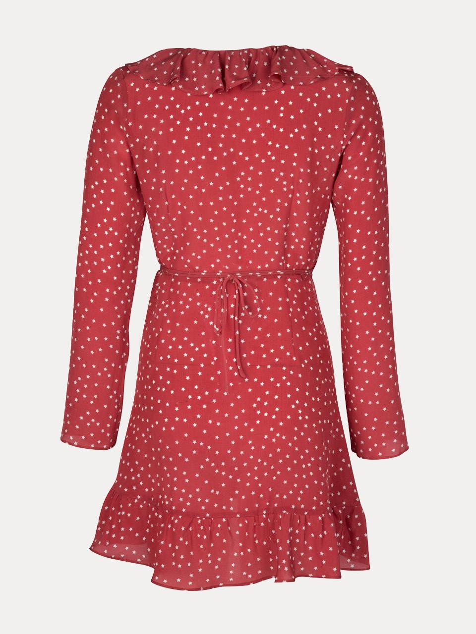 dc7e9cbe807e4 Alexandra Red Star   Silk Wrap Dress
