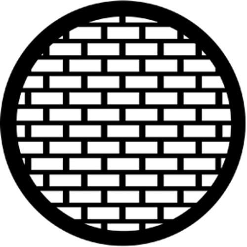 Rosco Standard Steel Gobo 77527 - Bricks