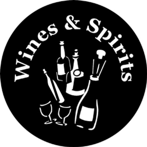 Rosco Standard Steel Gobo 77693 - Wines and Spirits