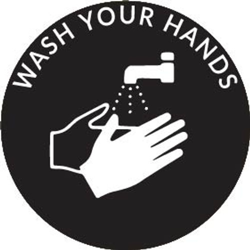 Rosco B/W Glass Gobo RHealth#15 Wash Your Hands