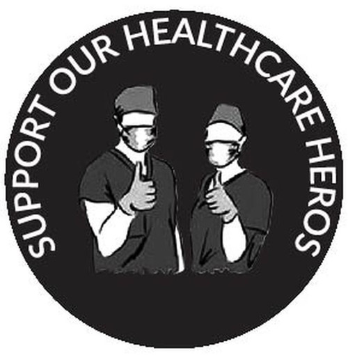 Rosco B/W Glass Gobo RHealth#19 Support Our Healthcare Heroes
