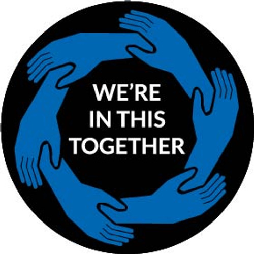 Rosco 2-Color Glass Gobo RHealth#8 We're In This Together
