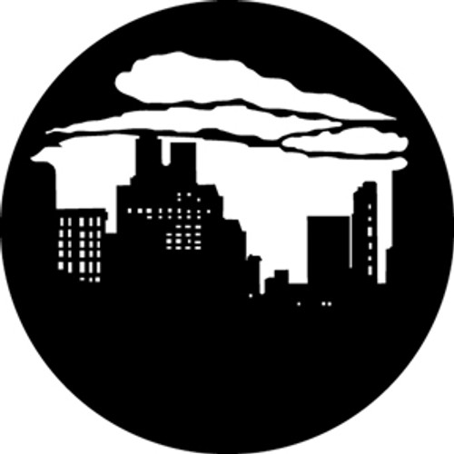 GAM Standard Steel Gobo 373 - Skyline with Clouds 1